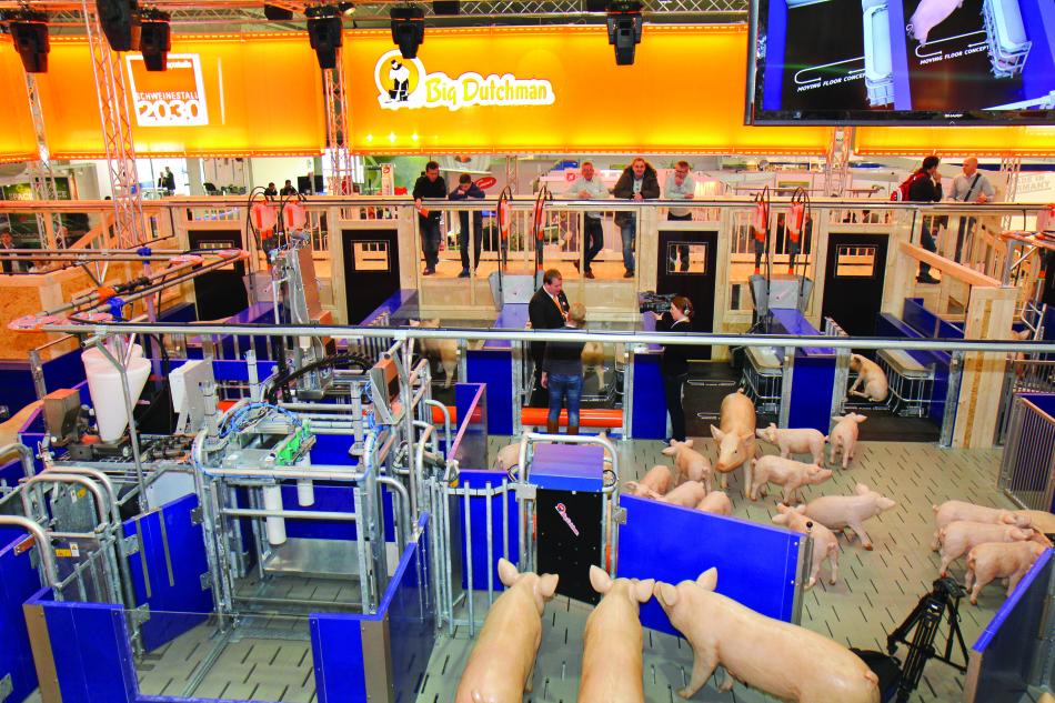 La fiera Eurotier di Hannover rappresenta la più importante esposizione zootecnica europea.