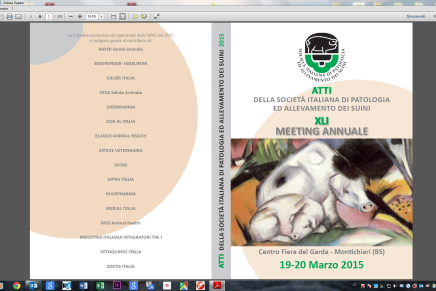 Il suino in accrescimento: Meeting Sipas 19-20 marzo 2015 / GLI ATTI