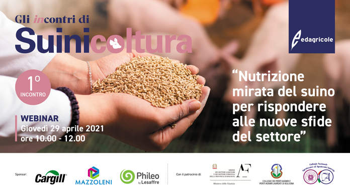 Webinar: Nutrizione mirata del suino per rispondere alle nuove sfide del settore